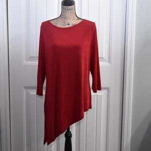 Chico's Travelers Red Top Size 12
